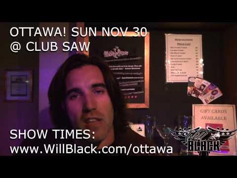 NEXT WEEK! OTTAWA Sun Nov 30 @ Club SAW