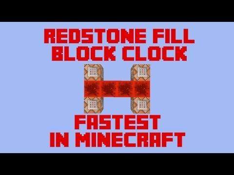 Minecraft Redstone Concept - 1.8 NEW Fill Command Block Clock w/ CovertAssasin