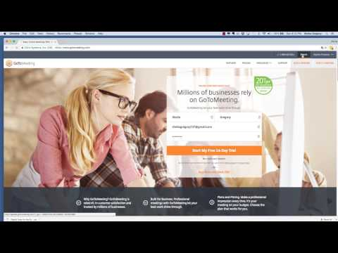 How to Create a Webinar Using GoToMeeting Part 1