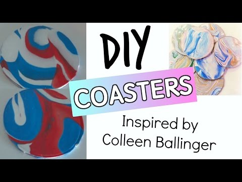 DIY Polymer Clay Coasters | HOW TO MAKE COASTERS