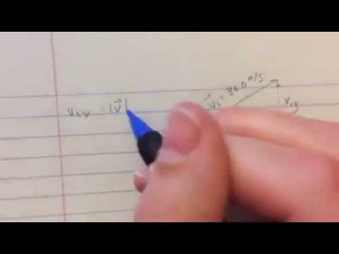 Determining Components of an Initial Velocity Vector