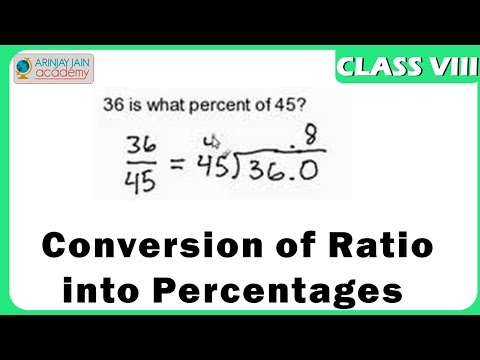 Conversion of Ratio into Percentages - Number System - Maths - Class 8/VIII - ISCE CBSE