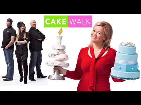 CAKE DECORATING TV SHOWS - David Cakes is a judge on CAKE WALK wedding cake competition TV series