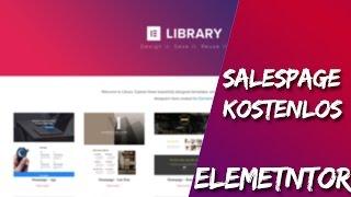 Kostenlose Salespage Mit Elementor | Tutorial & Anleitung