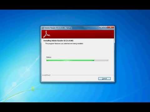 Adobe reader 11 installation on Windows