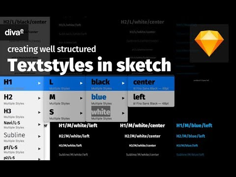 creating well structured text styles in sketch