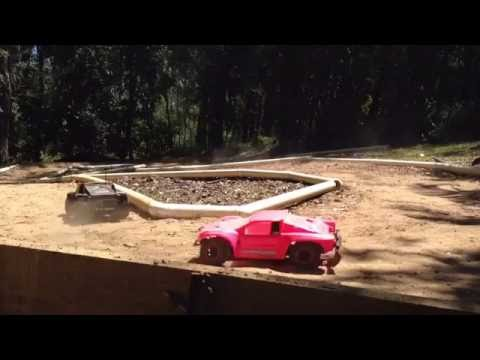 More fun on HOMEMADE RC track