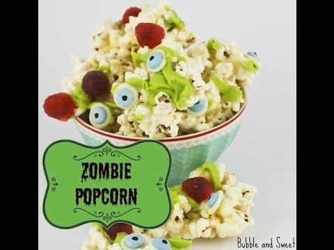 Zombie brain popcorn