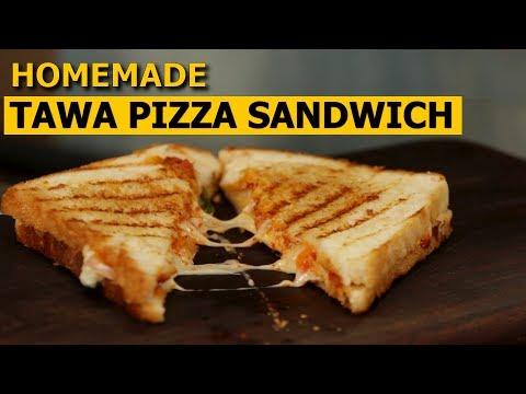 Tawa Pizza Sandwich Recipe in Hindi    तवा पिज्जा सैंडविच   No Oven   Easy & Quick Recipe