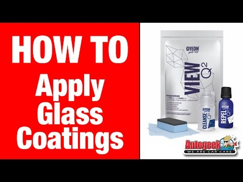 How to apply Automotive Glass Coatings - GYEON Glass Coating System