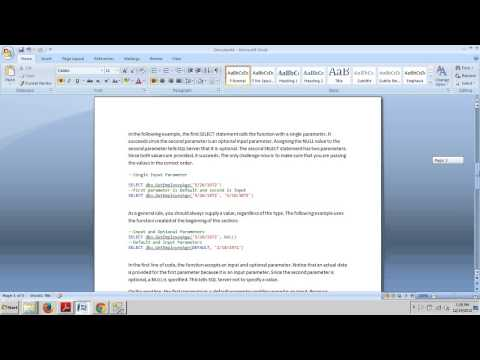 SQL Server tutorial 60: Executing scalar functions.
