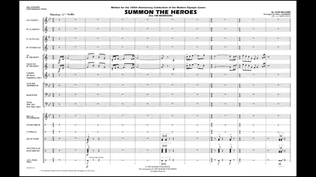 Download Summon the Heroes by John Williams/arr. Paul Lavender MP3 Gratis