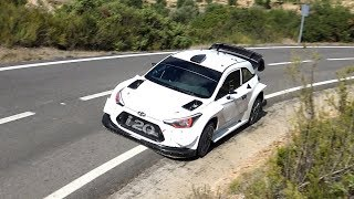 Test Andreas Mikkelsen   Hyundai i20 WRC on Tarmac   RallyRACC 2017 by Jaume Soler