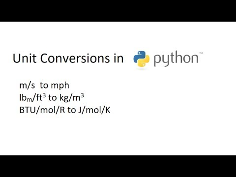 Python Unit Conversions with pint