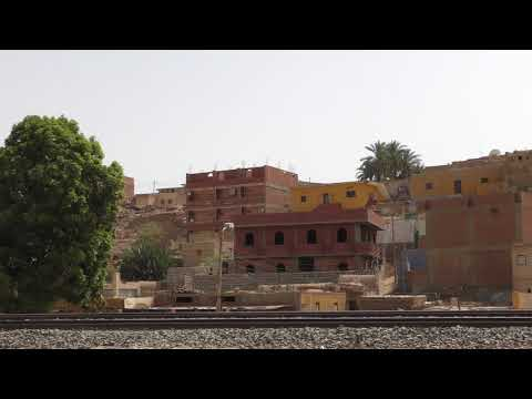 Views of a Nubian village as we drive from Aswan to Daraw