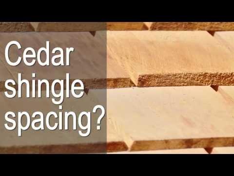 Cedar shingle spacing (gapping) ?