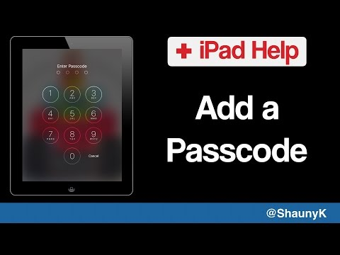 iPad Help - How to add a Security Passcode to your lock screen