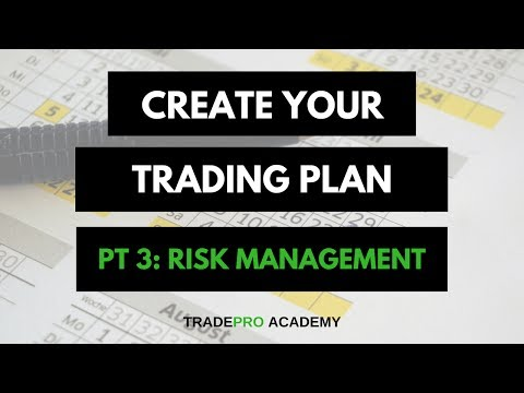 Create Your Trading Plan - Risk Management Strategy