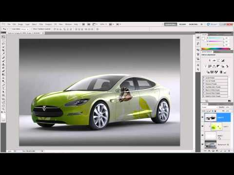 How to wrap design on a Car body in Photoshop