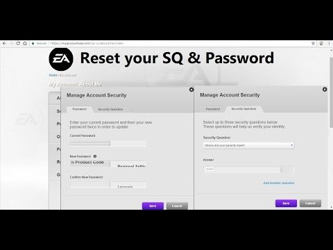 Change or Bypass origin and EA security question without answer it !!