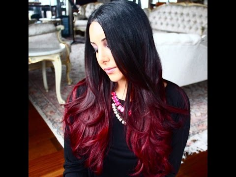 How I Dyed My Hair Ombre Red