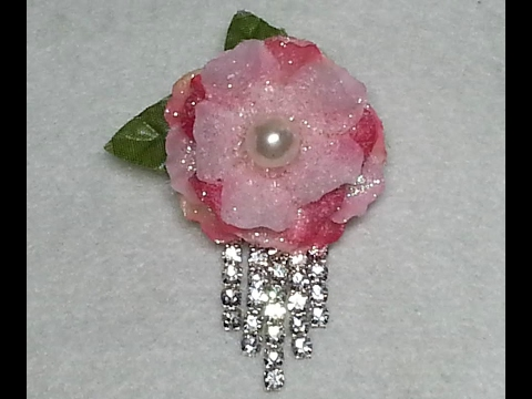 DIY~Stunning Spring Flower Brooch Using Dollar Tree Flowers! Easy & Inexpensive!