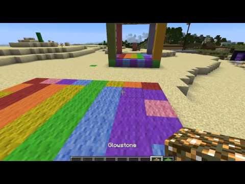 How To Build a Working Bouncy House On Minecraft + How To Make Multicolor Sheep