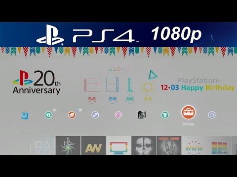 PS4 20th Anniversary Playstation 1 Dynamic Theme [1080p HD PS4]