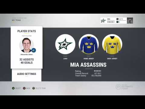 How to Set Goal Horn and Team Name   NHL HUT 17