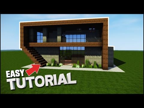 Minecraft House Tutorial: Easy Wooden Modern House - Best House Tutorial