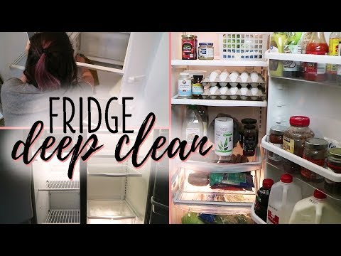 Fridge Cleaning | Deep Cleaning + Organizing 🍋 Clean with Me!