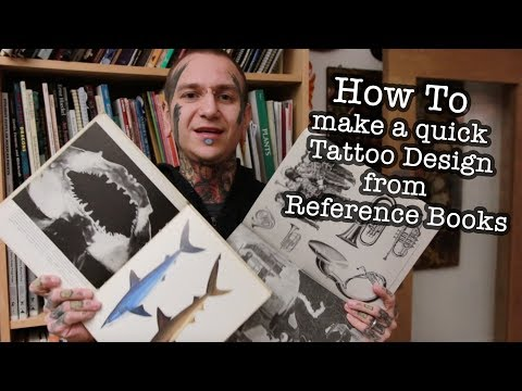 How to make a quick Tattoo Design from Reference Books