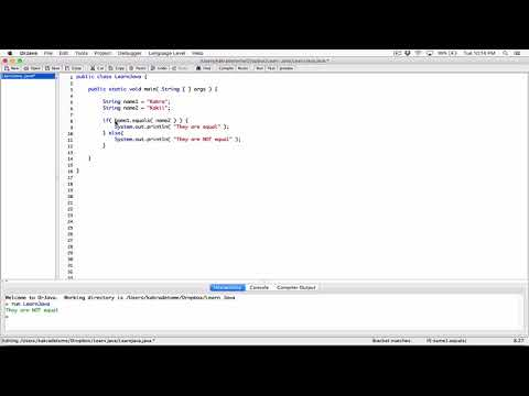 92. Comparing Strings: equals() method - Learn Java