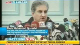 Raymond Davis does not enjoy diplomatic immunity: Qureshi