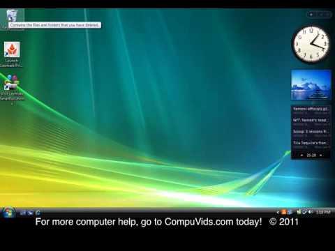 Windows Vista - Using the Recycle Bin
