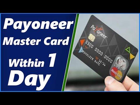 Payoneer Card: How to Get Free Payoneer Master Card [Urdu/Hindi] 2018