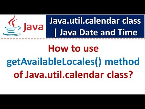 How to use getAvailableLocales() method of Java.util.calendar class