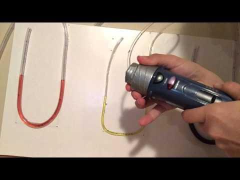 Homemade U-tube Manometer: Air stream velocity