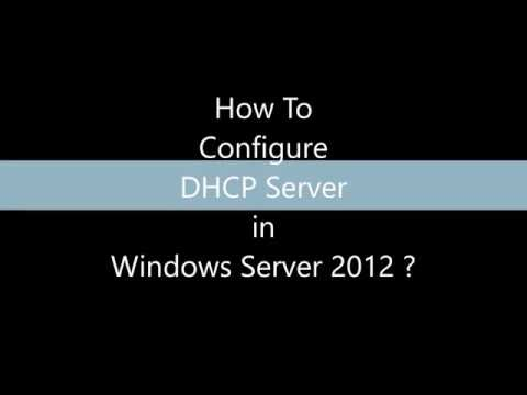 How to create DHCP server ?