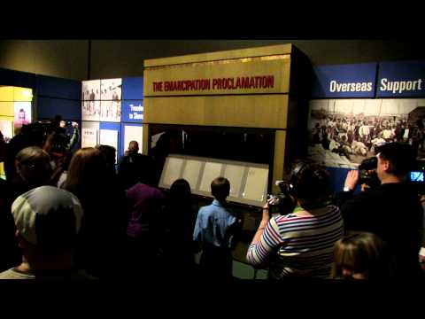 The Unveiling of the Emancipation Proclamation in Nashville, Feb 11, 2013