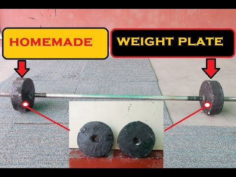 how to make weight plates at home(हिंदी में )