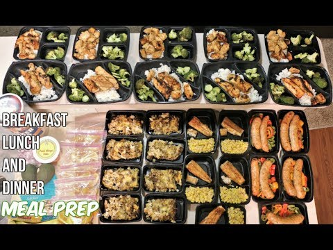 Meal Prep - Breakfast, Lunch and Dinner Meals - Groceries and Meals in the Description
