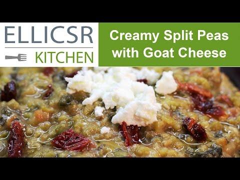 Creamy Split Peas with Goat Cheese