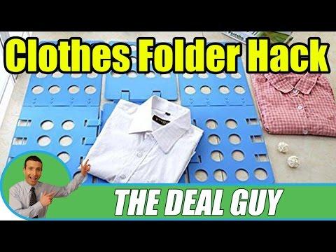 👕 Folding Clothes like a PRO ◄ folding clothes board LIFE HACK!