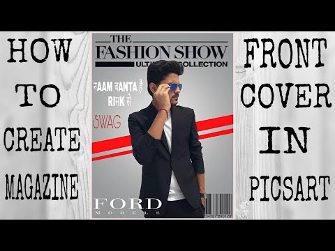 How to create front cover of magazine in picsart. Magazine cover in picsart. Editing updates.