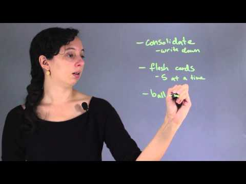 How to Memorize Data for Tests : Chemistry & Biology Concepts