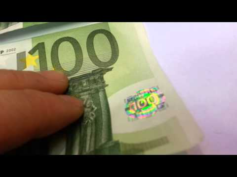 BANKNOTE 100 EUR BILL REAL VS FAKE