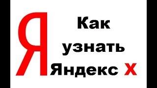 Как узнать Яндекс Икс (yandex X)