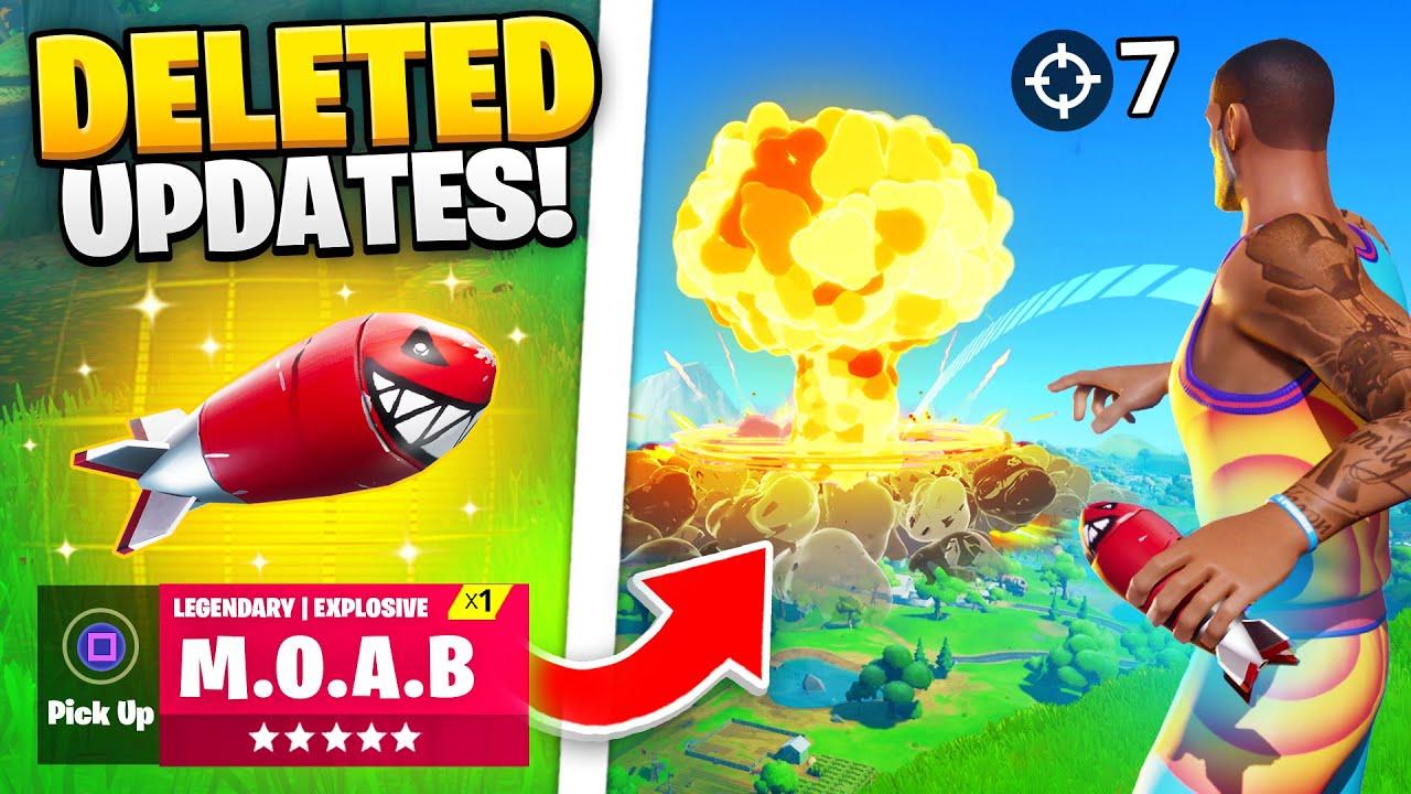 25 DELETED Fortnite Updates