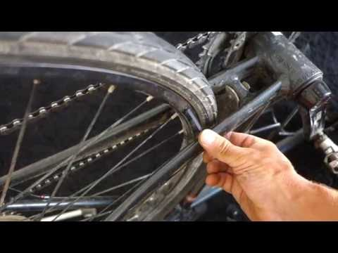 How to true a bike wheel at home without wheel stand